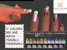 tOTALLY rANDOM fLORAL NAILS AND TOENAILS fatpack Maitreya