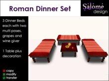 Roman Dinner Set / Triclinium Set