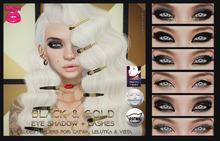 [POUT!] Black & Gold Make up - Catwa, Vista & Lelutka