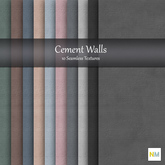Cement Walls 10 Seamless Textures NM