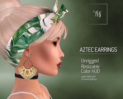 TWS - Aztec Earrings