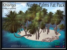 NINSAR PALMS FATPACK: unlimited amount of 11 different low prim versions