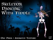 Animated Skeleton Dancing With Fiddle