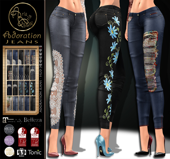 ***ArisArisB&W~Alus61~Adoration Jeans - ~Hud