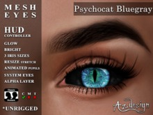 Az...  Psychocat Bluegray (MESH EYES)