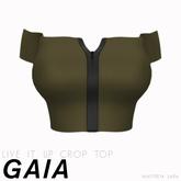 Gaia - Live It Up Crop Top KHAKI