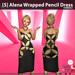 s  alena wrapped pencil dress symbols ad