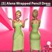 s  alena wrapped pencil dress green ad