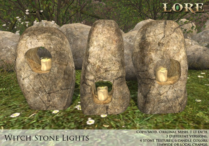 Second Life Marketplace Lore Witch Stone Lights A hag stone is simply a stone with a natural hole through it. second life marketplace lore witch