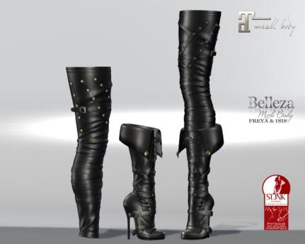 ~PP~ Marauder Boots -Black Leather