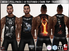 [ Mesh ] Full Pack ( 12 Textured ) Tank Top - Transylvania