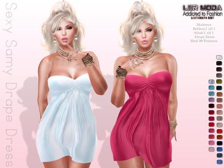 [ LsR ] - Sexy Samy Drape Dress