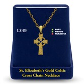 Celtic Cross Necklace: Gold
