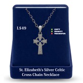 Celtic Cross Necklace: Silver