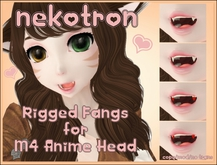 [Nekotron] Rigged Fangs for M4 Anime Head (updated)