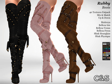 C&S Rubby Boots for Maitreya, Physique & Hourglass, Venus, Isis & Freya. 40 Textures. Mix & Match