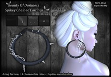 .:BoD:. Spikey Chained Earrings