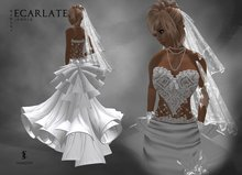 Ecarlate - Dress Mariage - Wedding Formal Gown / Robe Mariage - MarsNy