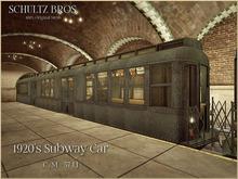 Old New York: 1920's NY Subway Car