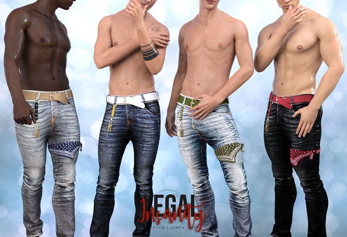 Legal Insanity - Owen skinny jeans DEMO