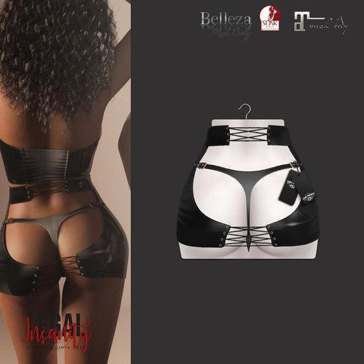 Legal Insanity - Malya black leather skirt