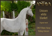 :: ANTAYA :: Water Horse Unicorn white blanket