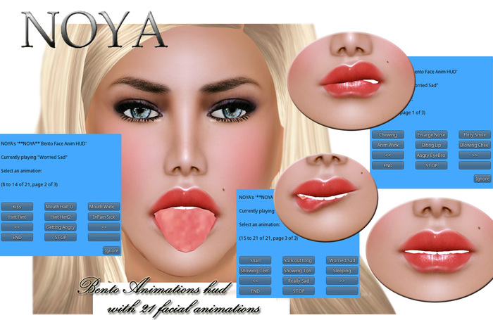 **NOYA** -Bento Animation Hud for Face Expressions