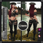 [RnR] Swag Sparrow Pirate Outfit [NEW RELEASE] [ Works with Maitreya, Hourglass, Physique, Freya, Venus & Isis! ]