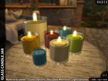 [RADIX] Glass Candle Jar