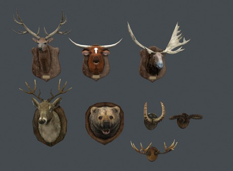 [Dolphin Design]7 animal head/ELK