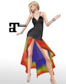 XK Maitreya Rainbow Road Gown Black
