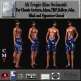 Ab Tropic Blue Swim Trunks