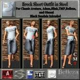 Breck Short Outfit in Steel