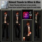 Edward Tuxedo in Silver & Blue