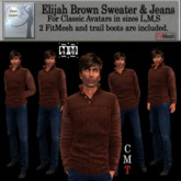 Elijah Brown Sweater and Jeans