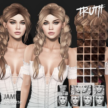 TRUTH Jamie (Fitted Mesh Hair) - Brunette