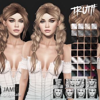 TRUTH Jamie (Fitted Mesh Hair) - Grayscale