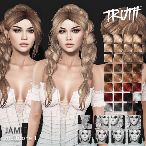 TRUTH Jamie (Fitted Mesh Hair) - Multitone 1