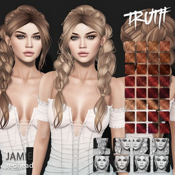 TRUTH Jamie (Fitted Mesh Hair) - Redhead