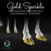 Lunistice: Gold Sparkle - Water Horse Hooves