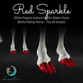 Lunistice: Red Sparkle - Water Horse Hooves