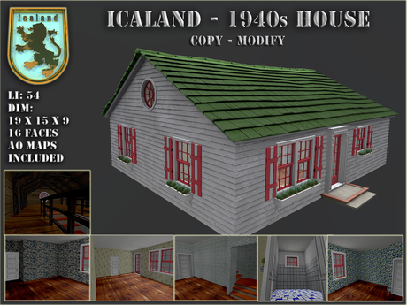 Second Life Marketplace Icaland 1940s House