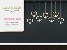 {moss&mink} Heart Drop Lights