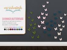 {moss&mink} Shimmer Butterflies