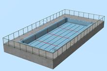 japanese school swimming pool BackDrop