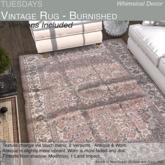 Tuesdays Vintage Rug - Burnished