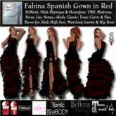 Fabina Spanish Gown in Red