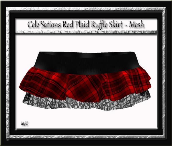[CS] Ruffle Skirt Red Plaid Pk
