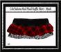 Celesations red plaid ruffle skirt mesh