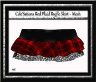 [CS] Ruffle Skirt Red Plaid [ Maitreya Belleza TMP Slink ]